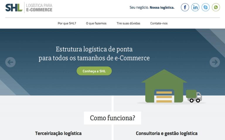 Novo site da empresa SHL Logistica